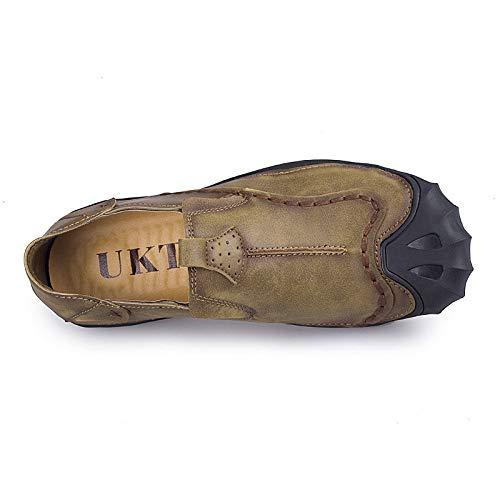 Basse Primavera Khaki Moda Scarpe Scarpe da con Uomo A Tonda Comode Indossabili Testa Casual vn4A6q1w