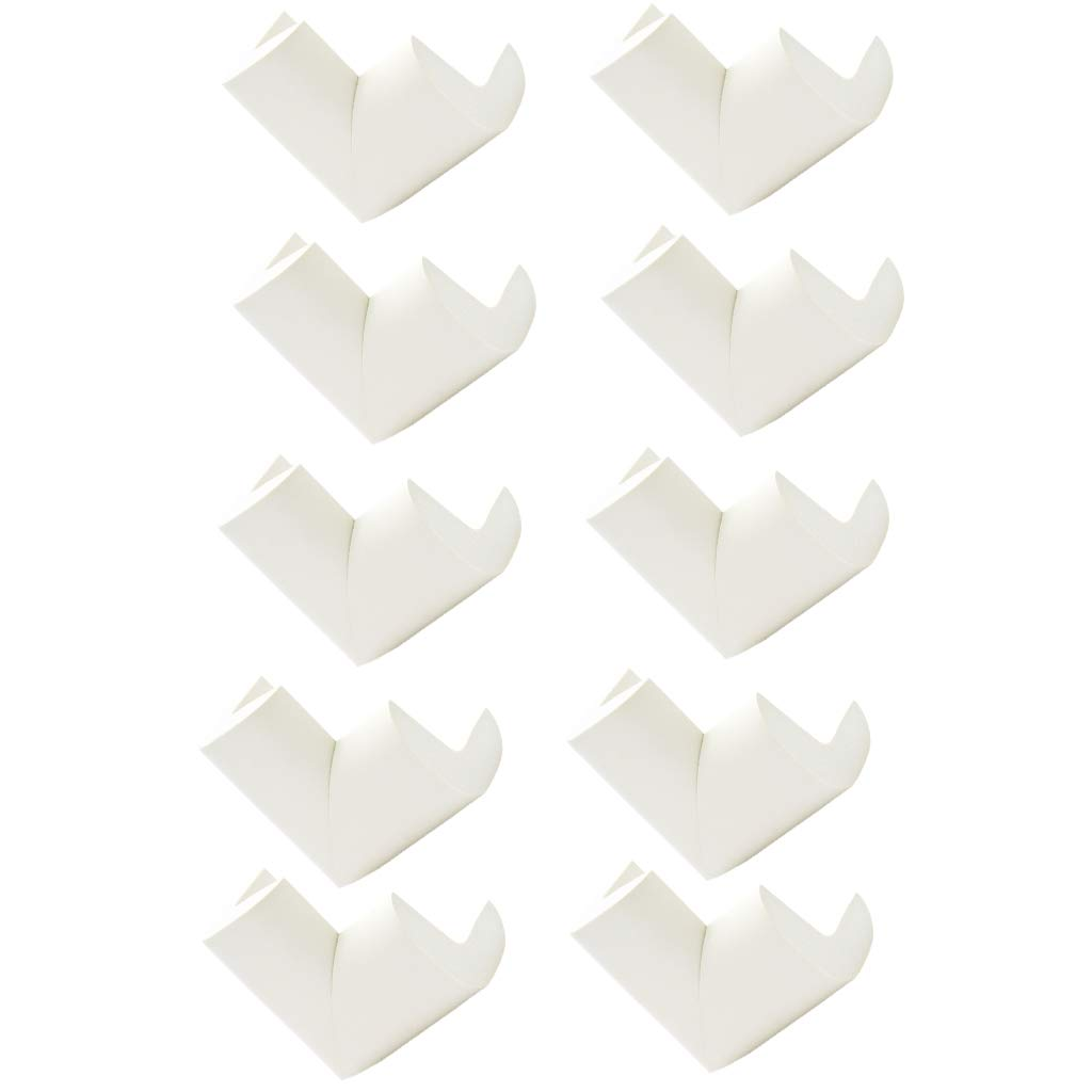 White Fityle 10pcs Corner Bumper Baby Proofing Table Corner Guards Protector for Furniture Against Sharp Corners