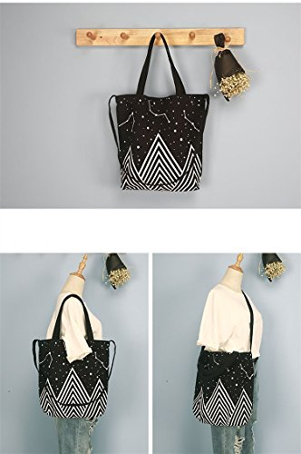 Jual ASAPS Canvas Tote Bag Black Print Design -  f27bb0b6704c5