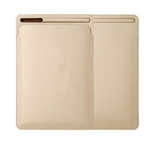 Quelife Leather Sleeve Case Cover Pouch Skin for Apple Pencil 2nd & iPad Pro 11inch 2018 Gold