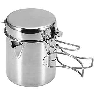 Lixada Camping Cooking Kettle 1L Stainless Steel Cookware Pot with Foldable Handle for Outdoor Camping Backpacking… 11