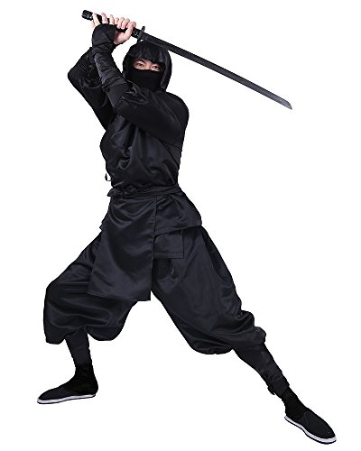 Cosplay.fm Men's Black Ninja Halloween Costume (L)]()