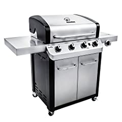 The Char-Broil signature gas grill series offers durable, stainless-steel construction, & a wide variety of premium features which deliver the ultimate grilling experience. The Char-Broil signature 4-burner cabinet 530 features four top-p...