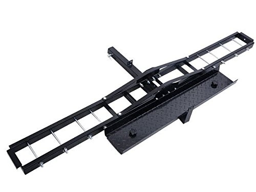 (K&A Company Steel Motorcycle Scooter DirtBike Carrier Hauler Hitch Mount Rack Ramp Anti Tilt)