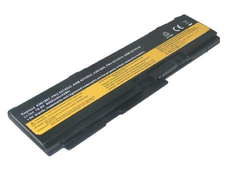 PowerSmart Replacement Laptop battery for Lenovo ThinkPad X300, X301 Series, Compatible Part Numbers: 42T4641, 42T4643, 43R1965, 43R1967, ASM 42T4519, ASM 42T4523, FRU 42T4518, FRU 42T4522