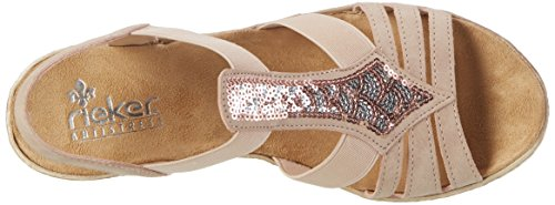 Sandals WoMen 5 Altrosa 61913 3 Rieker UK Toe Multicolored Multicoloured 31 Closed BdI7wa