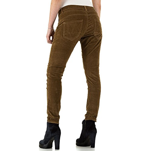 Place Du Jour Velours Boyfriend Jeans Für Damen , Braun In Gr. 40 bei Ital-Design