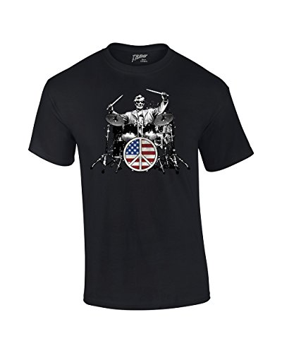 Drum T-Shirt Rock 101 Abe Lincoln ()