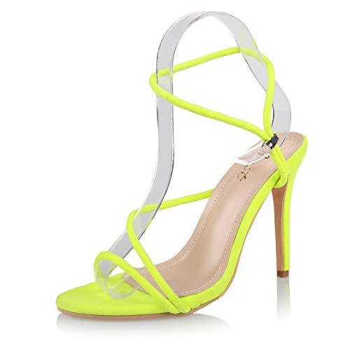 AIIT Women's Fashion Stiletto High Heel Sandal Pump Shoe Green