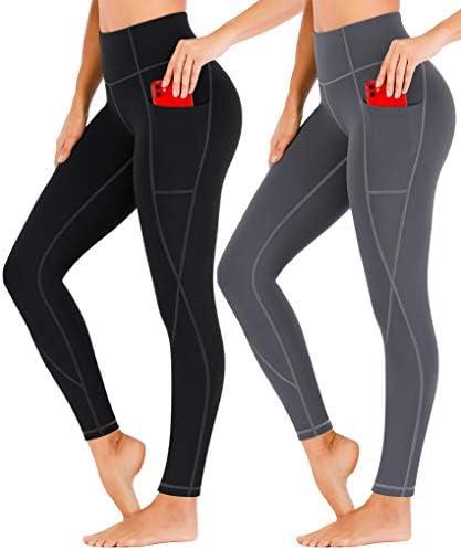 Heathyoga 2 Pack Yoga Pants for Women with Pockets Leggings with Pockets for Women High Waist Workout Leggings for Women 1