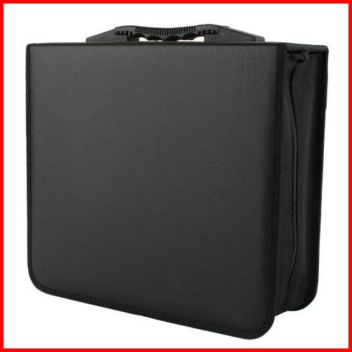 CD DVD Album, 240 Capacity CD / DVD Wallet (CD Holder Cases) in Black Color for CD / DVD Media Storage, Made with Koskin Material