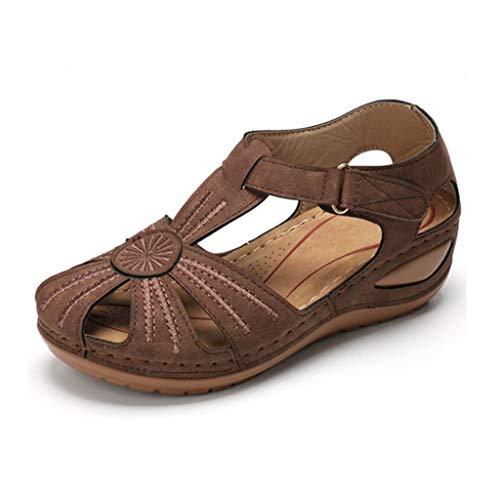 AOKASII Sandals for Women,Women's Platform Sandals Slip-On Flip Flop Casual Summer Beach Travel Sandals