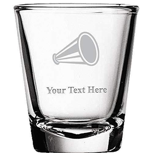 Custom Shot Glasses, Personalized Cheerleading Megaphone Shot Glass