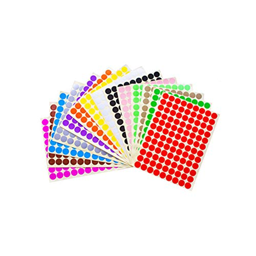 - 14 Sheets (1512 Pcs) Essential Oil Bottle Cap Labels Stickers Printable and Handwritten 16mm Round Blank Labels Stickers Top Label Stickers for Essential Oil Cap Assorted Color