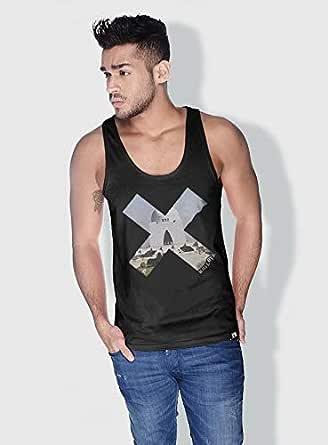 Creo Pakistan X City Love Tanks Tops For Men - L, Black