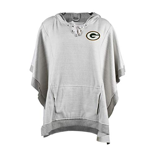 Littlearth NFL Green Bay Packers Heather Hoodie Poncho (Green Bay Packers Robe)