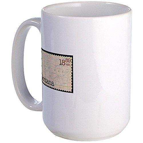 CafePress Montana Stamp Large Mug Coffee Mug, Large 15 oz. White Coffee Cup