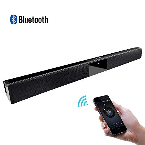 Wired and Wireless Bluetooth Soundbar with Subwoofer Home Theater Mini Multifunctional Portable Speaker for Cell Phone/Tablet/and TV