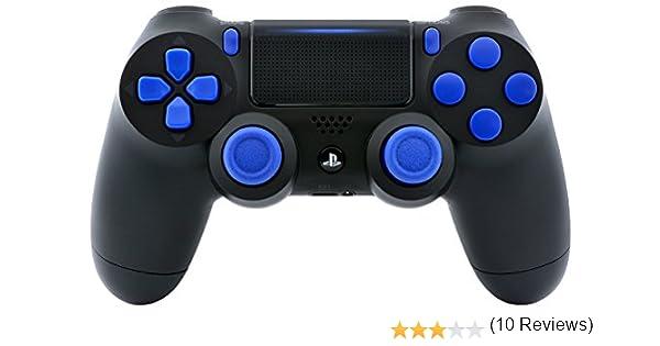 Controlador de encendido rápido y rápido PS4 Playstation 4 Pro de color negro y azul para Ops 3, IW, fantasmas, Destiny, Battlefield 1: alcance rápido, disparo de caída, carrera automática, respiración cortada,