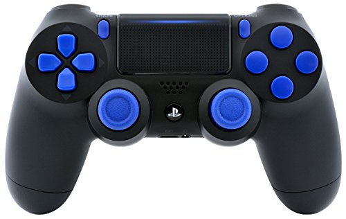 Black/Blue PS4 Playstation 4 Pro Rapid Fire Modded Controller for COD Black Ops 3, IW, Ghosts, Destiny, Battlefield 1: Quick Scope, Drop Shot, Auto Run, Sniped Breath, Mimic and More CUH-ZCT2 (Modded Call Of Duty Black Ops)