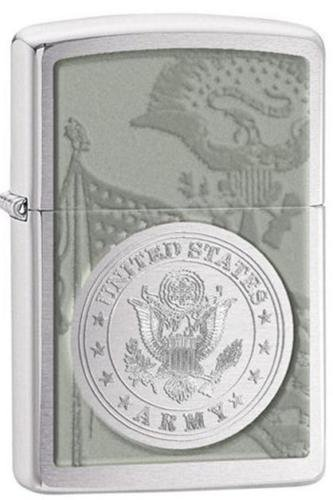 Zippo Pocket Lighter United States Army Windproof Lighter, Brushed - Seals Zippo Navy
