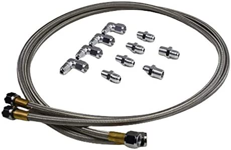 6AN SS Transmission Cooler Hose Fitting Stainless Steel Braided ...