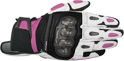 Alpinestars Womens Motorcycle Leather Black/Pink Stella SP X Air Carbon Gloves Size S
