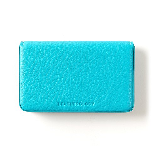 Leather Teal Mauve Leather Grain Business Pink Case Card Full qTO448X