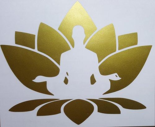 32 & Willys Lotus Flower Meditating Premium Decal 5