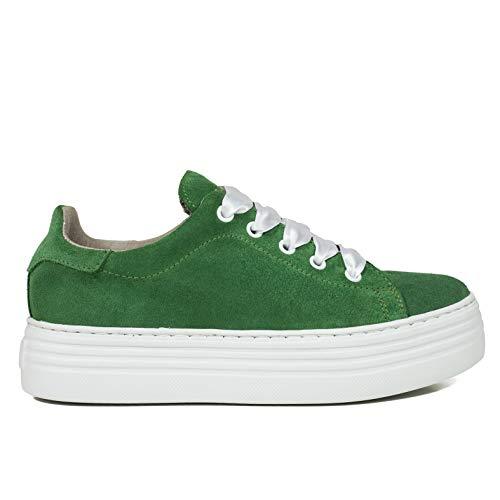 Mujer Foam España Zapato Cómodo Verde Con Hechos Memory Blanca Zapatos Sneakers Mujer Piel Plantilla En Mimao Zapatilla Plataforma aXqaEwAR