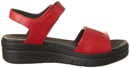 Stonefly 108231, Sandalias de Cuñas Mujer Rojo (Rosso 600)