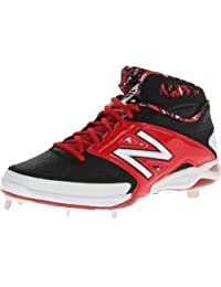 New Balance Men's M4040br2 Mid Metal Baseball Cleats, Red,12.5 M US