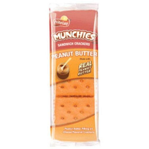 Frito Lay Munchies Peanut Butter on Cheese Crackers, 1.42oz Bags (Pack of 24)