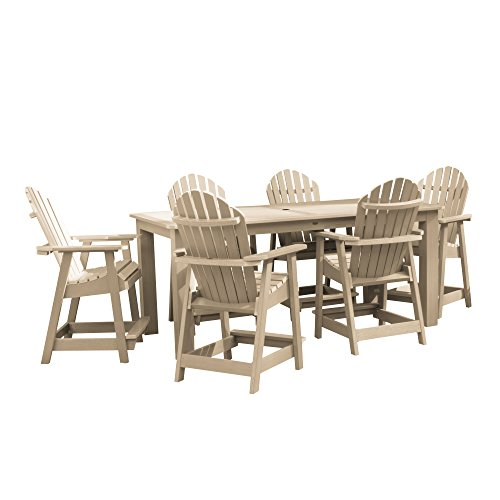 highwood AD-ST7HM2CO5BA-TAU Hamilton 7-Piece Rectangular Counter Height Dining Set 84
