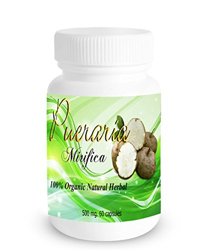 [60 Caps X 500mg Pueraria Mirifica Powder Root Extract Breast Best Enhancement Augmentation Grown in Thailand Highest Mountain] (Fruit Extract 60 Caps)