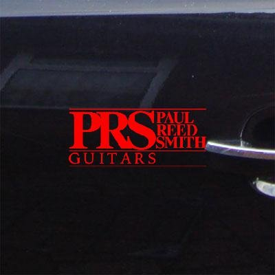 LAPTOP CAR ADHESIVE VINYL HOME DECOR STICKER DECAL BIKE DECORATION MACBOOK RED CAR WALL ART PRS PAUL REED SMITH GUITAR ART NOTEBOOK AUTO (Paul Reed Smith Decal)