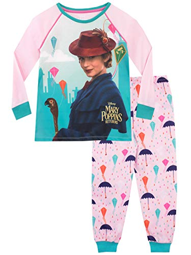 Disney Girls' Mary Poppins Pajamas Size 12 Multicolored