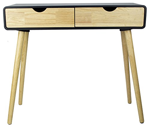 HomeRoots Furniture Euro 2-Drawer Console Table (Desk Writing Euro Style)
