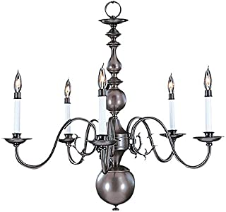 product image for Framburg 9125 PB 5-Light Jamestown Dining Chandelier, Polished Brass