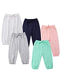 Unisex Baby Casual Pants,Toddler Kids Boys Girls Elastic Waist Cotton Anti-Mosquito Harem Trousers Bottoms