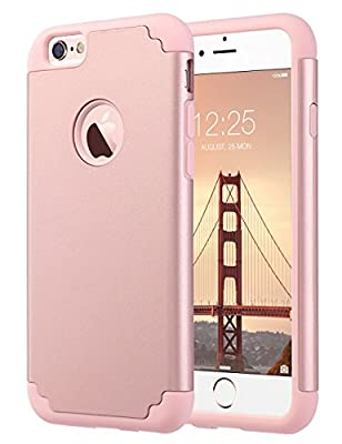 iPhone 6S Case,iPhone 6 Case, ULAK Slim Dual Layer Soft Silicone & Hard Back Cover Bumper Protective Shock-Absorption & Skid-Proof Anti-Scratch Hybrid Case for Apple iPhone 6 / 6S 4.7 inch
