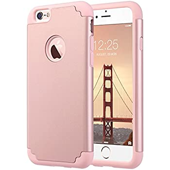 IPhone 6S CaseiPhone 6 Case ULAK Slim Dual Layer Soft Silicone Hard