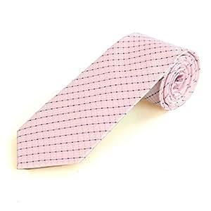 BULANUO @ Nuevos rosados ??rayados hombres clásicos Tie Wedding Party Corbata vacaciones Prom regalo