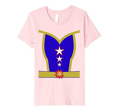 Kids Female Superhero Halloween Costume Premium T-shirt 6 Pink