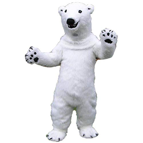 Furry Polar Bear Mascot Costume for Adults to Wear Polar Bear Mascot for Party]()