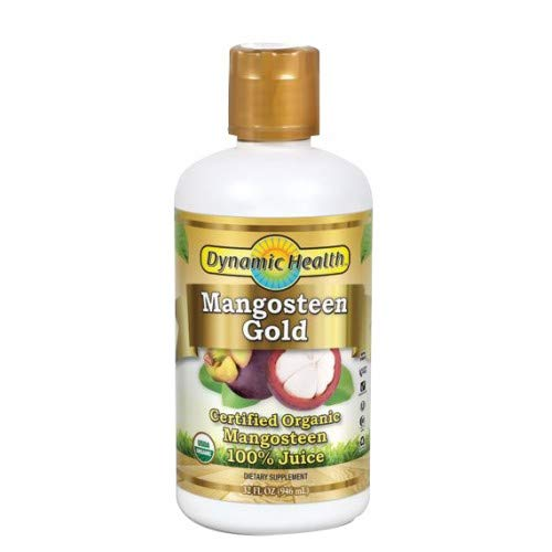 Dynamic Health Mangosteen Gold Pure 32 Ounce - 2 Pack