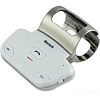 BreaDeep Steering Wheel Bluetooth Handsfree Speakerphone Car Kit-Support to connect 2 mobile phones-White