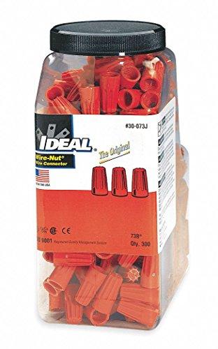 - Ideal 73B Orange Wire-Nut Wire Connector (Jar of 300)