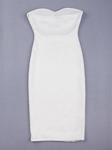 Weiß Weiß Weiß HLBandage Schlauch Kleid Damen Weiß qwqtIR