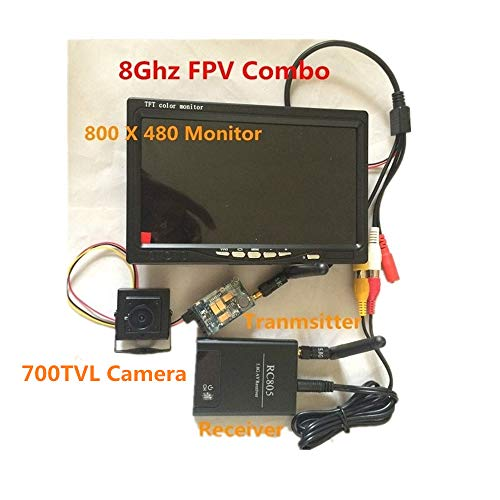 tesny RC FPV Combo 5.8Ghz FPV System with 5.8G 200mw AV Transmitter Receiver HD Monitor CCTV Camere for RC DJI Phantom